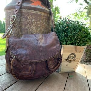 Lucky Brand Leather Hobo Shoulder Handbag